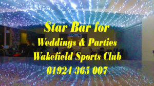 Star Bar for Weddings & Parties - wakefieldsportsclub.org